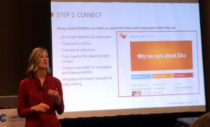Kelly Hipchen, a communication officer at the Bill and Melinda Gates Foundation, shared a case study on an internal branding initiative during the CorpComm Expo.